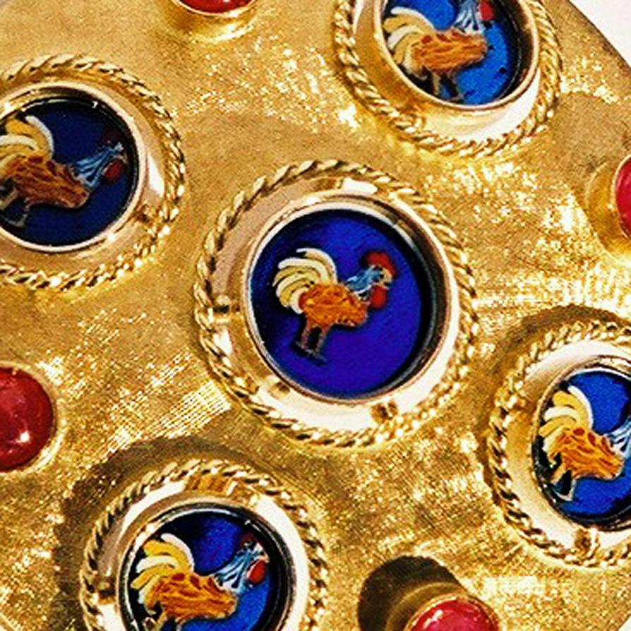 Gold  Ruby Earrings (detail)   by giusymoretti