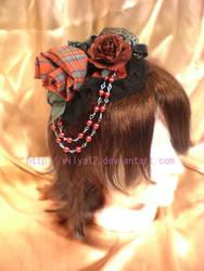 Dark rose headress by Wilya12