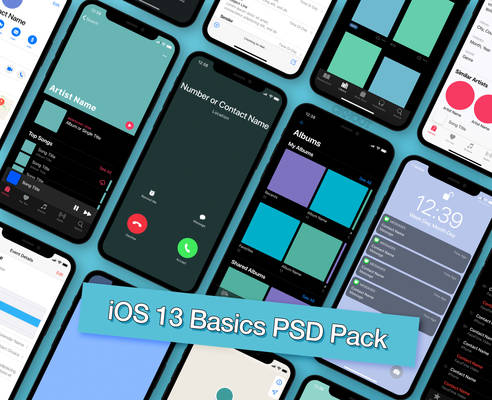 iOS 13 Basics PSD Pack