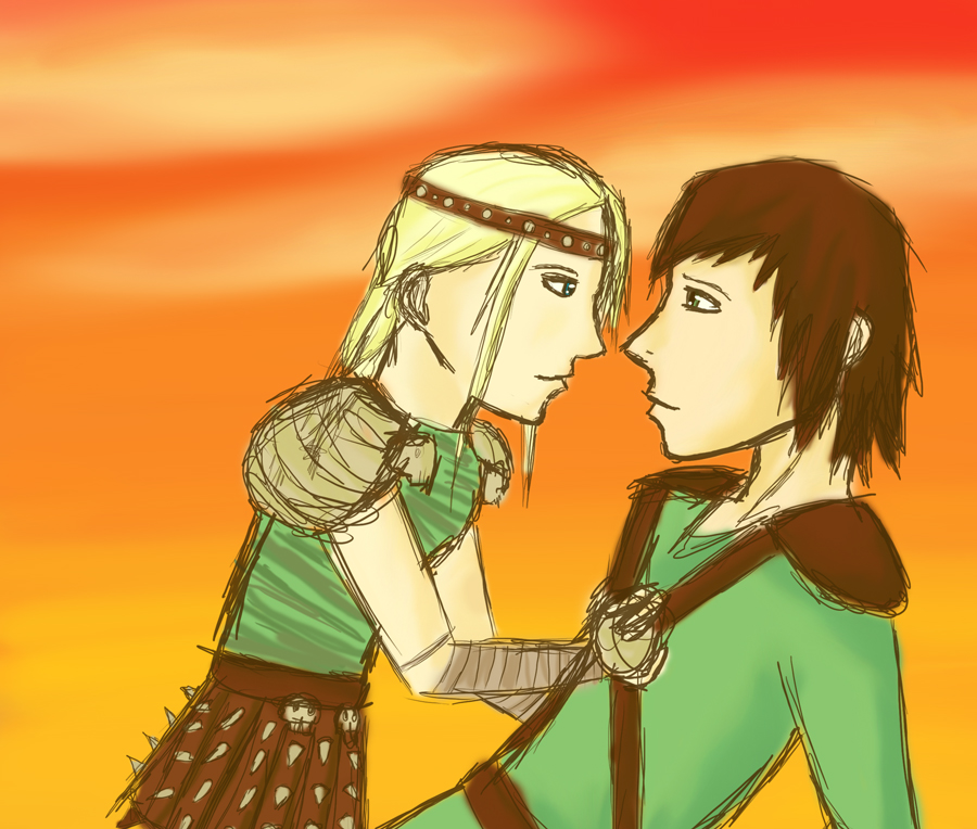 Anime hiccup and Astrid | Hiccup and Astrid | Pinterest
