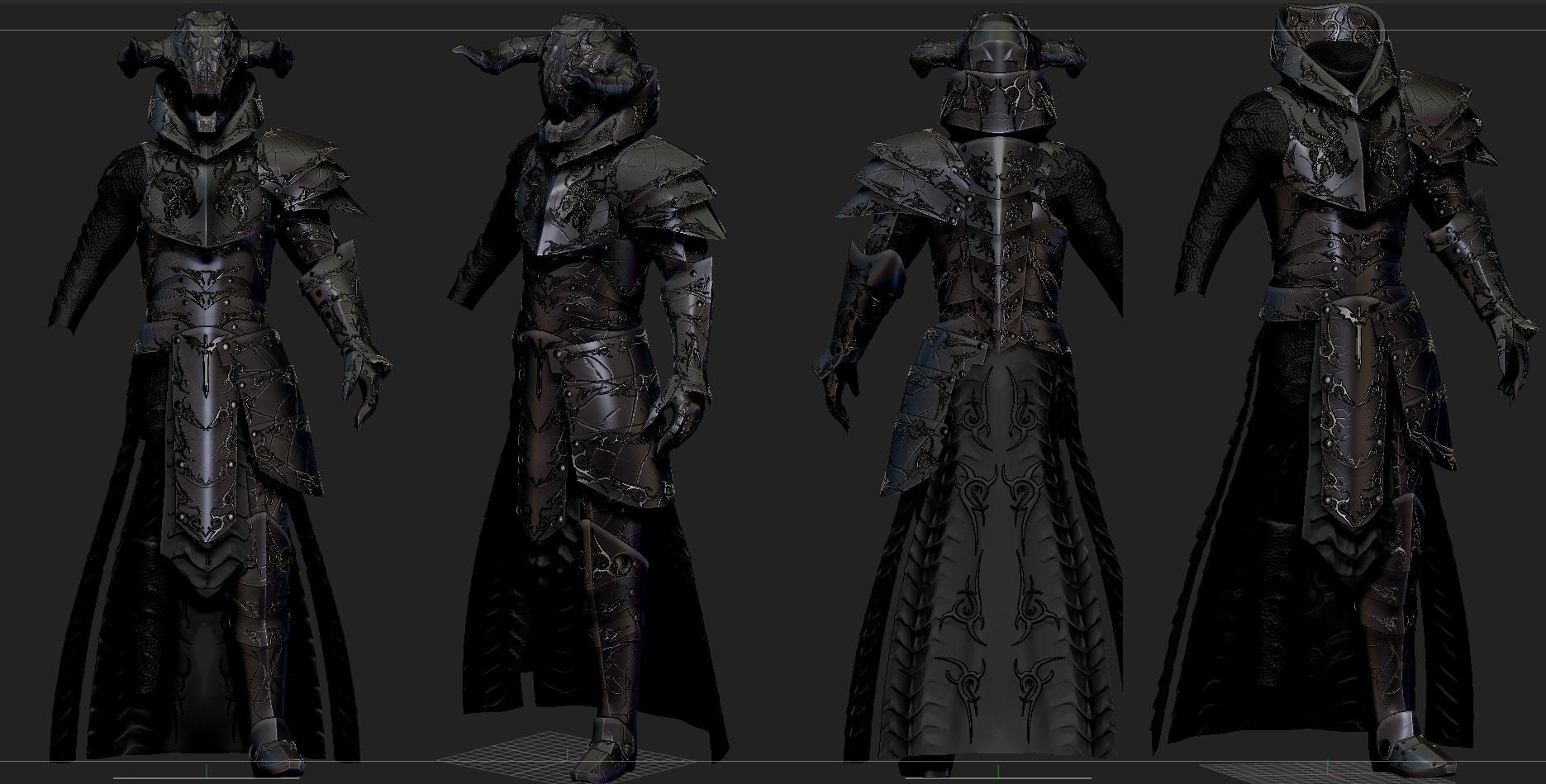 DRAGONLORD Skyrim custom armor by Zerofrust