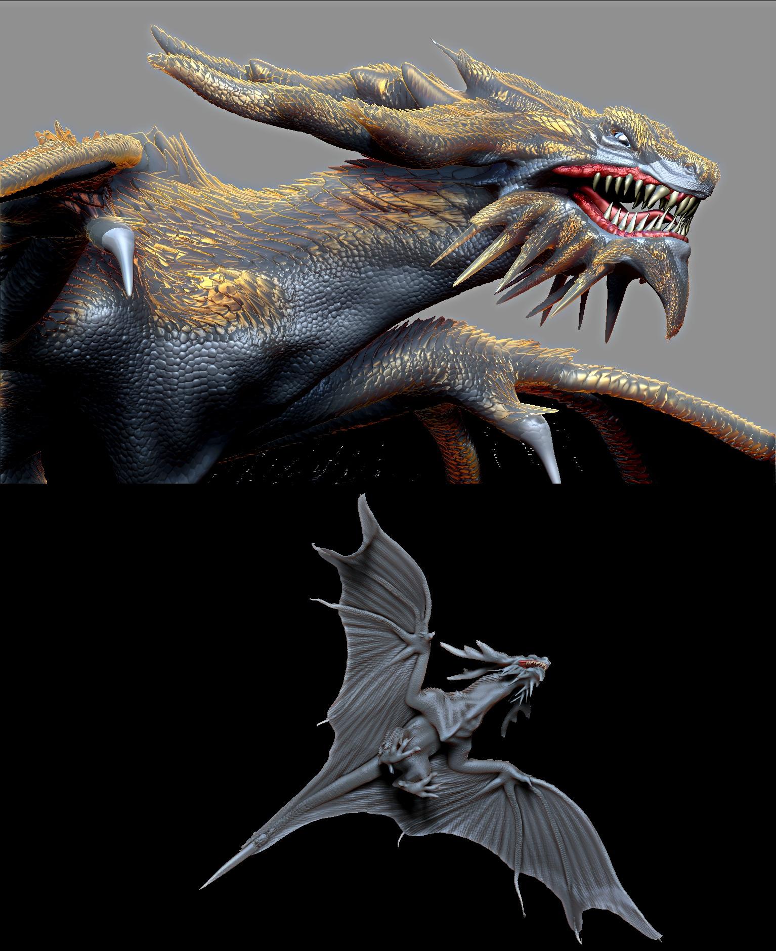 Behemoth Custom Skyrim Dragon Golden scales by Zerofrust on