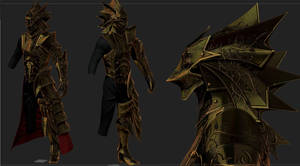 KNight of thorns Gold Armor  for skyrim