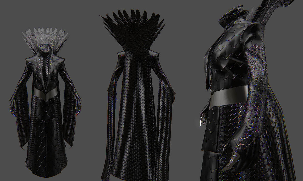 Wicked Witch Dress for Skyrim by Zerofrust on DeviantArt