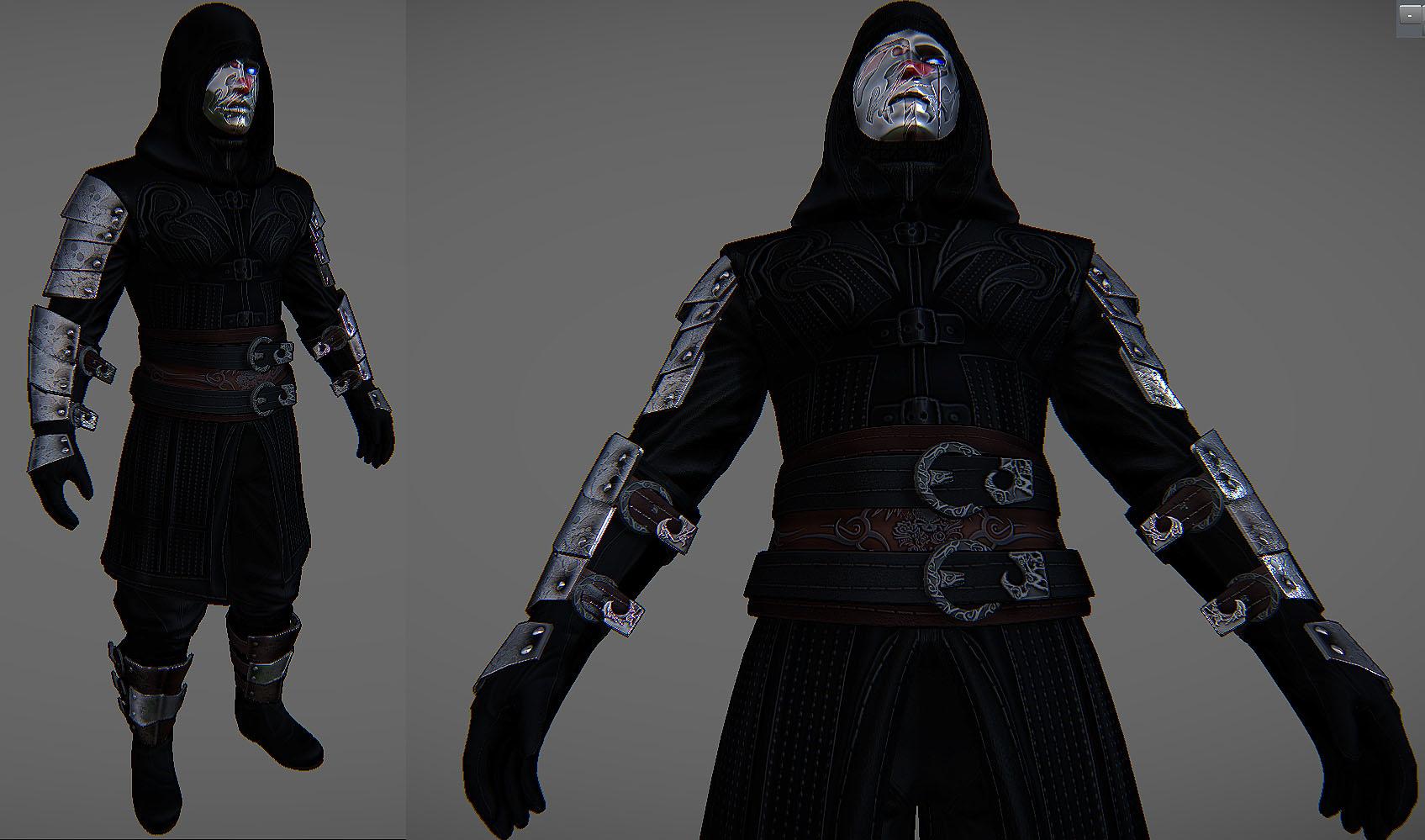 Crimson Tear Order Skyrim armor 2 by Zerofrust