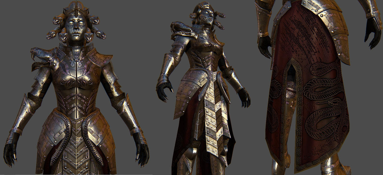 Medusa Armor For Skyrim 1 by Zerofrust