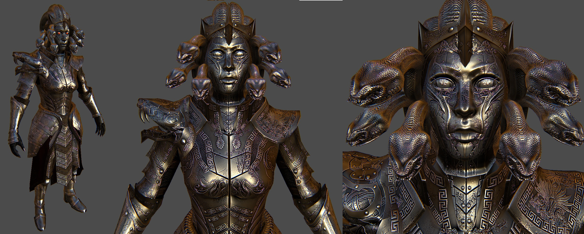 Medusa Armor For Skyrim 2 by Zerofrust