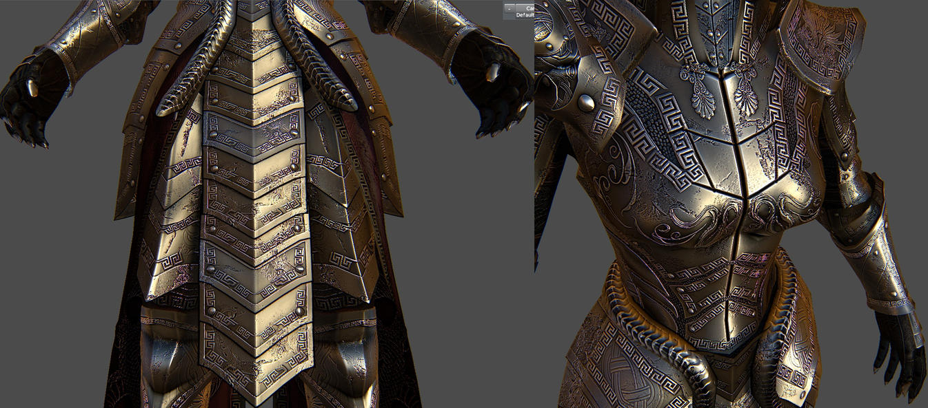 Medusa Armor For Skyrim 3 by Zerofrust