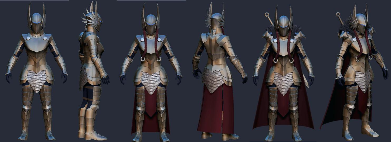 Valkyrie Armor  doodle 2 by Zerofrust