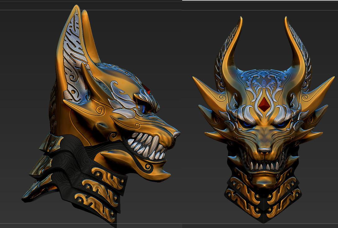 Makai Knight armor helmet by Zerofrust