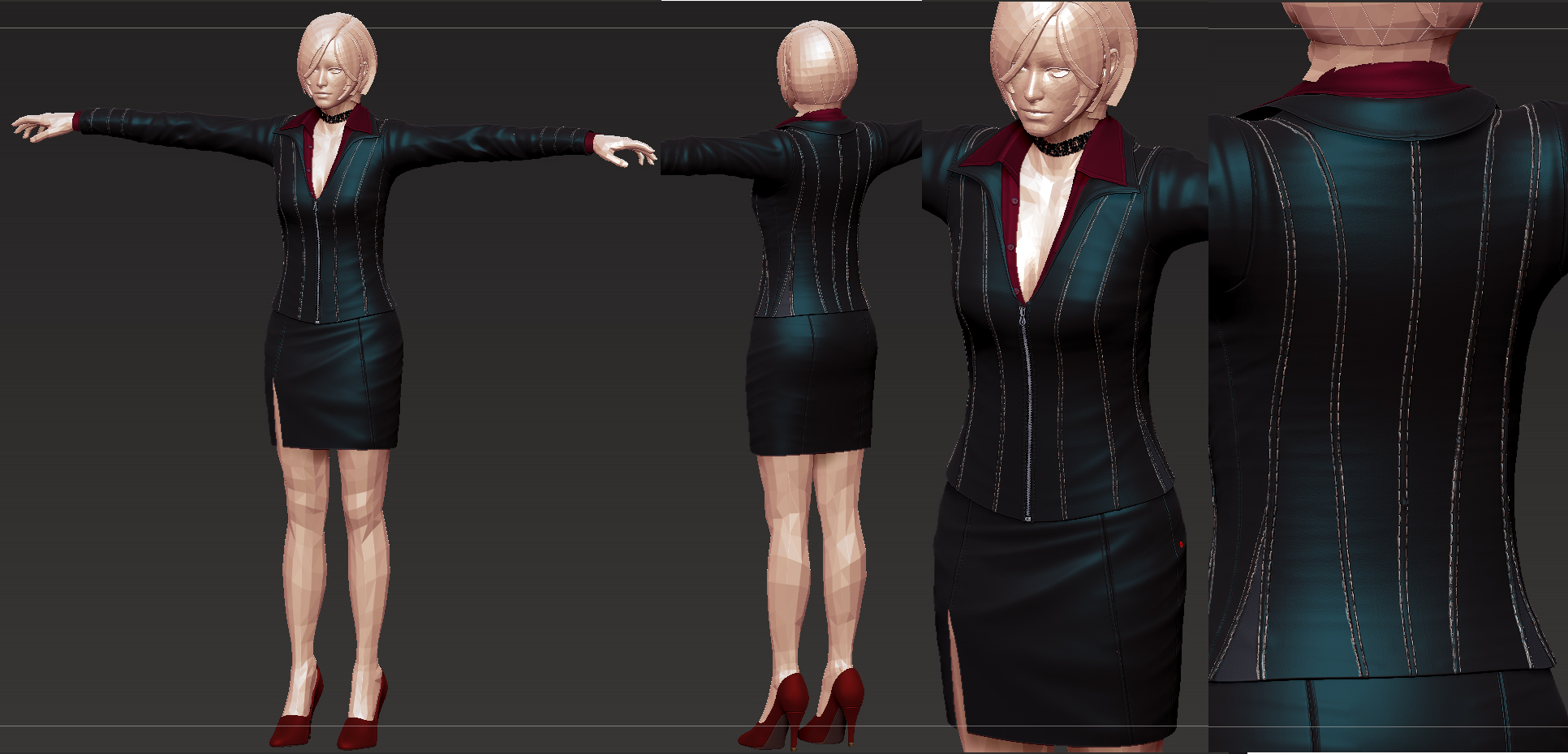 ada resident evil damnation costume wip by zerofrust on