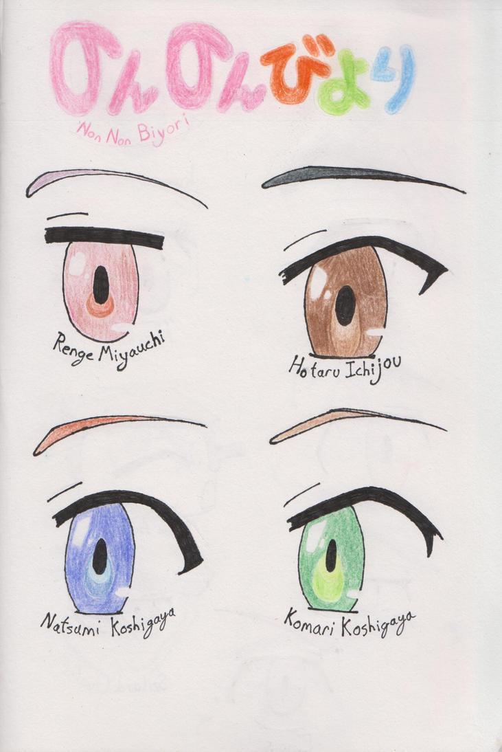 Non Non Biyori Eyes by cezzagant