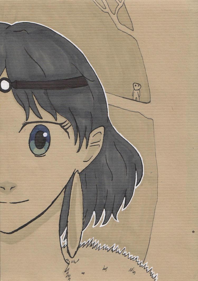 Princess Mononoke - San by cezzagant