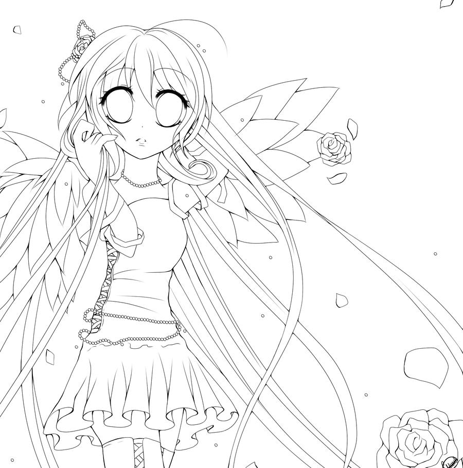 anime angel coloring pages - anime angel coloring pages