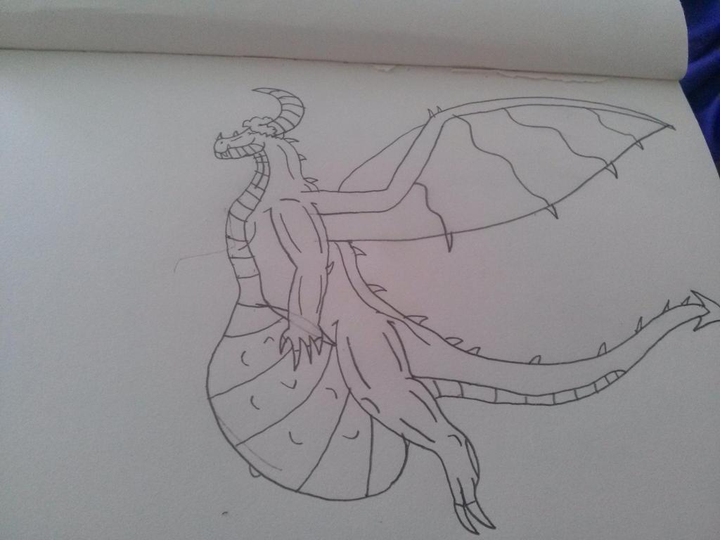 Pregnant Me Dragon Form by DingoFan