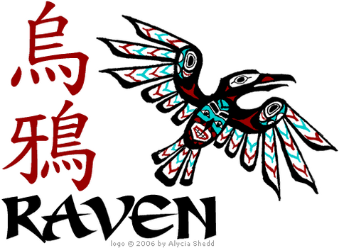 Spaceship logo - the Raven