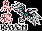 Spaceship logo - the Raven