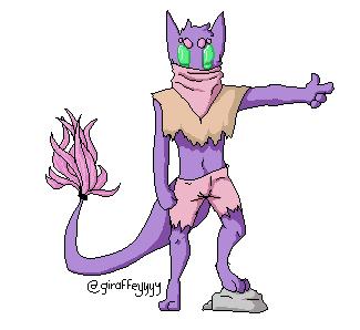 Smoll little Purple by giraffeyyyy