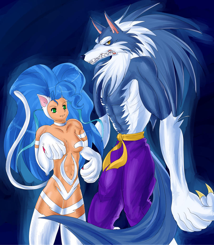 Felicia and Talbain by chunkybutt