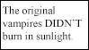 Vampires and Sunlight by Randomly-Random-Kid