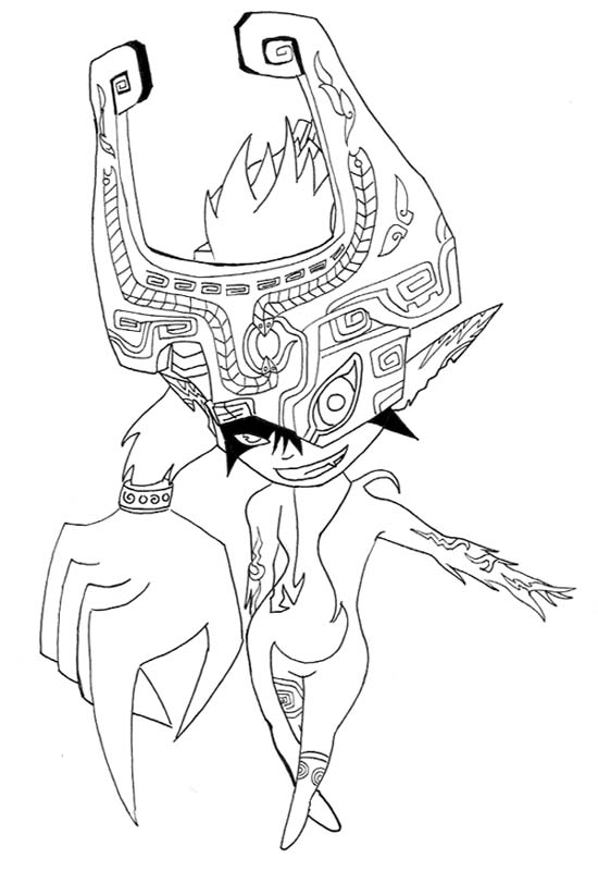 midna coloring pages midna lineart by animedragoon3 on deviantart