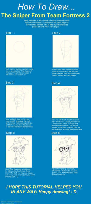 How To Draw Sniper Tutorial