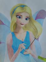 Pinocchio: Blue Fairy - Frozen style by Elveariel