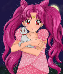 Princess Chibi Moon with Diana by Elveariel