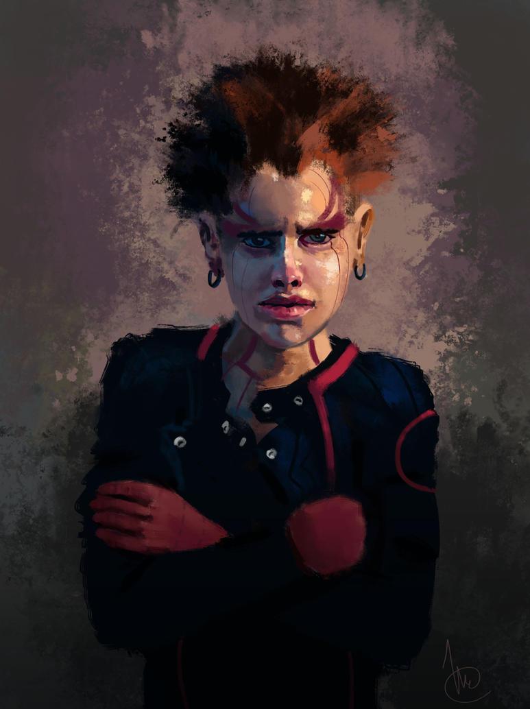 Cyberpunk girl by vincentee