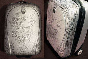 Handshell Suitcase by bedowynn