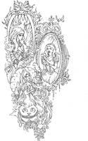 Badass Fairy Tales Tattoo by bedowynn