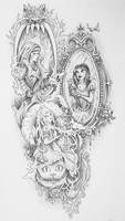 Badass Fairy Tales Tattoo (Shaded) by bedowynn