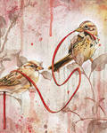 Entwined Sparrows