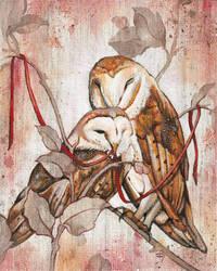 Entwined Owls by bedowynn