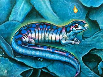 Sacred Salamander by bedowynn