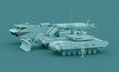 Universal platform: BMPT, IMR, PT W.I.P by Yaskolkov