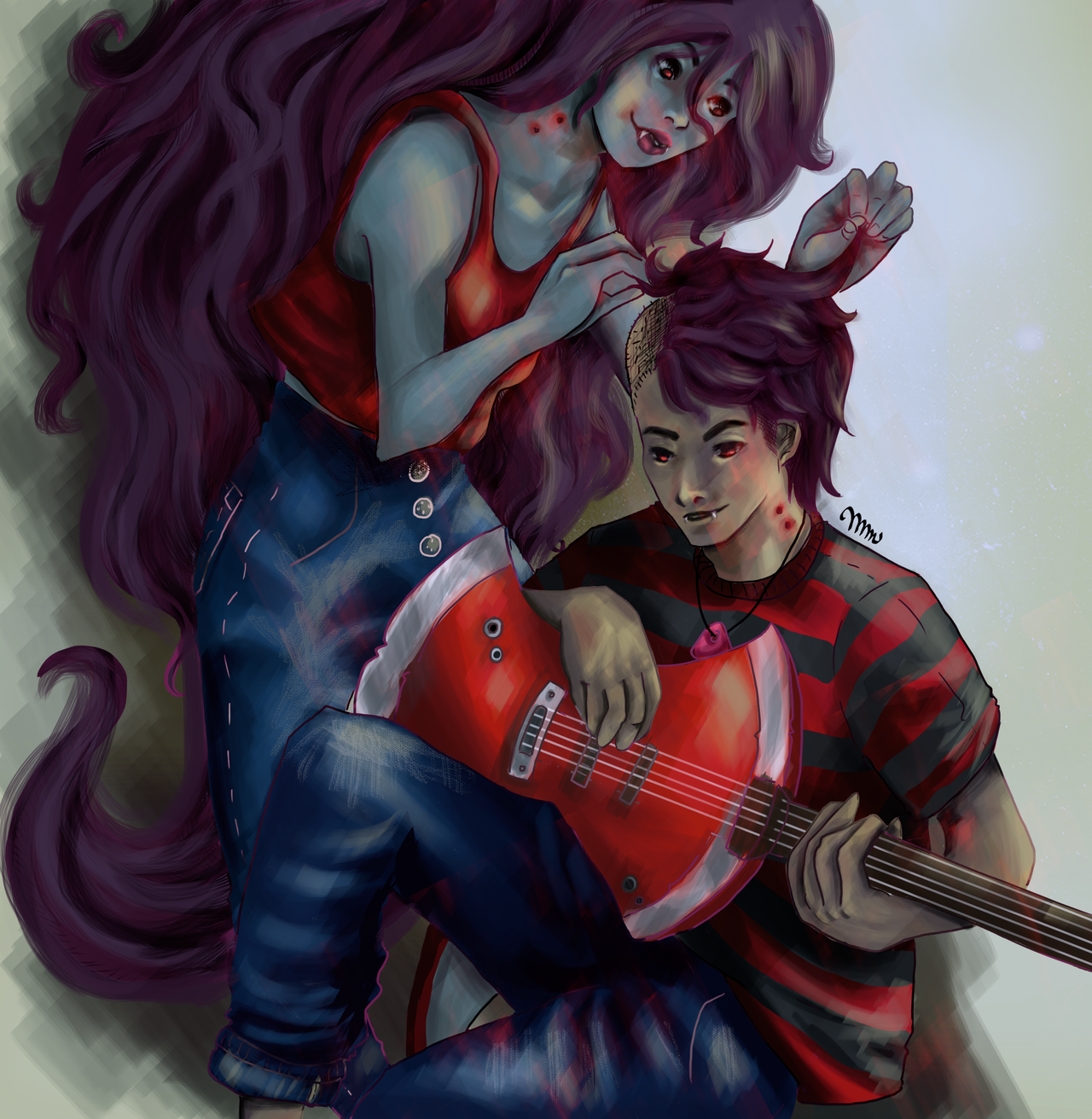 Adventure Time with Marceline and Marshall by Jimmy-ilustra