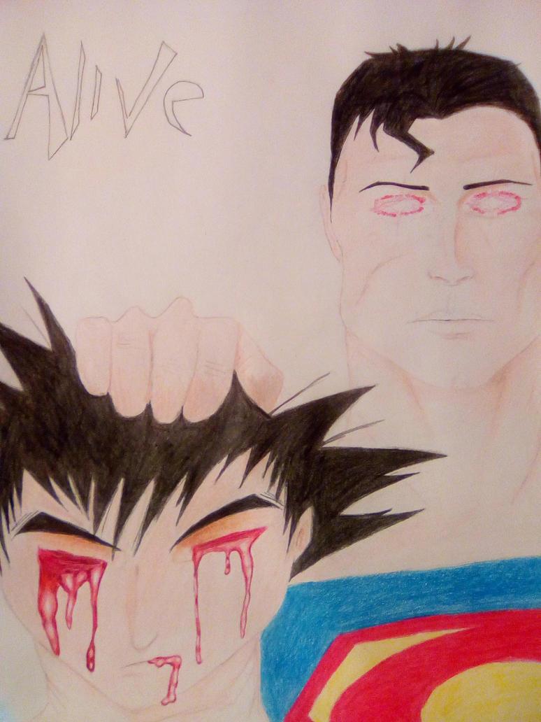 Alive (Goku vs Superman) by TherealLevelZ