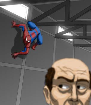 Spider-Man sneaking by tgau