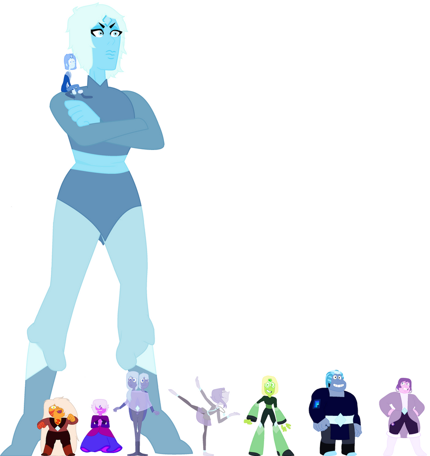Ice Blue Diamond and misc Members of court by Emberelf14
