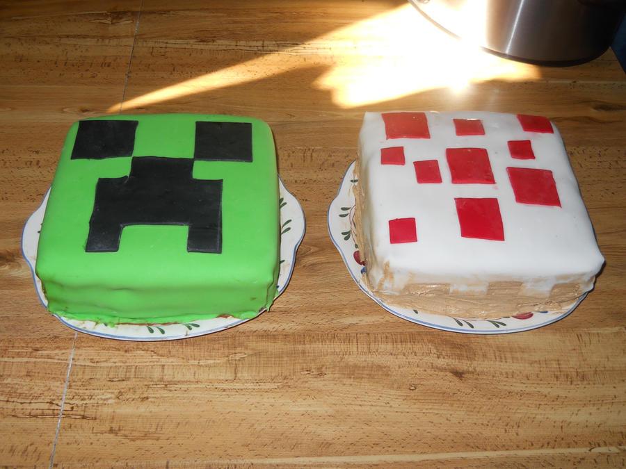 Minecraft cake by SupernaturalGirl1967 on DeviantArt