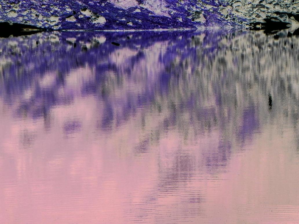 Blue Lake Reflections Negative Image by ShebaKoby