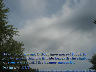 Psalm 57:1 NLT by neice1176