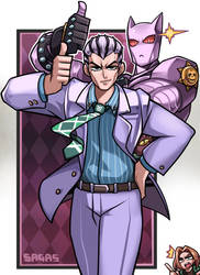 Kira Yoshikage / Killer Queen by Sagas293