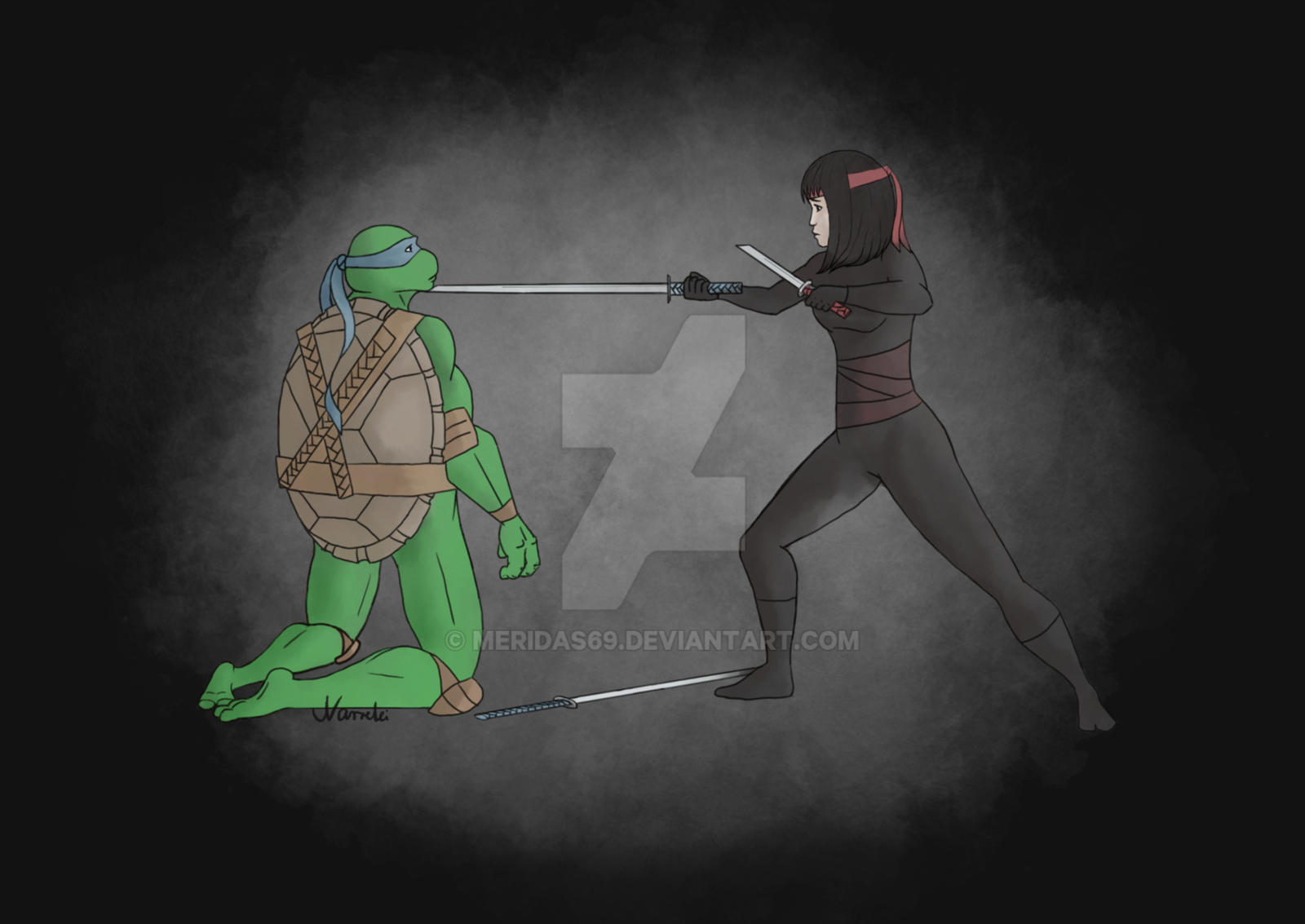Leo And Karai TMNT By Meridas69 On DeviantArt