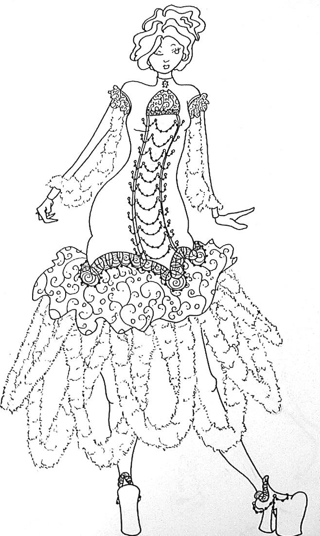 Fuzzy Dress Design by phantomonex