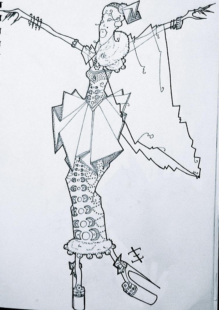 Auntie Mame costume design by phantomonex