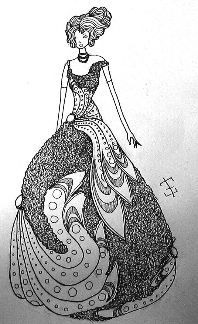 Rose Dress Design by phantomonex