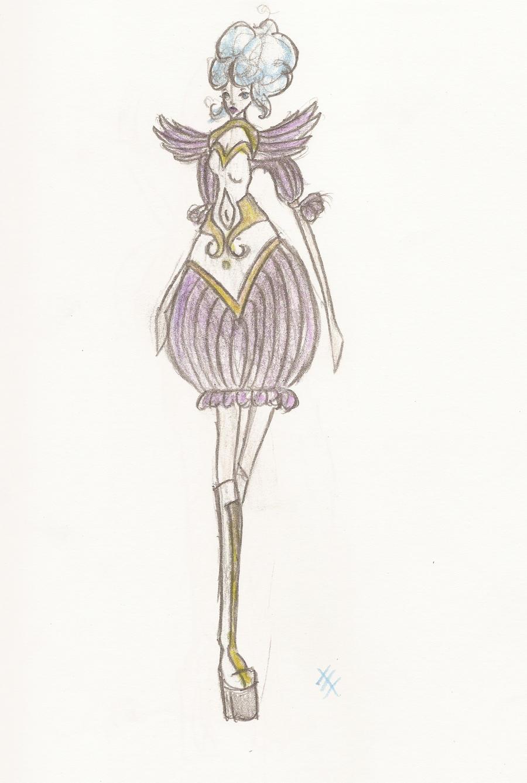 Feathered Dress Design by phantomonex