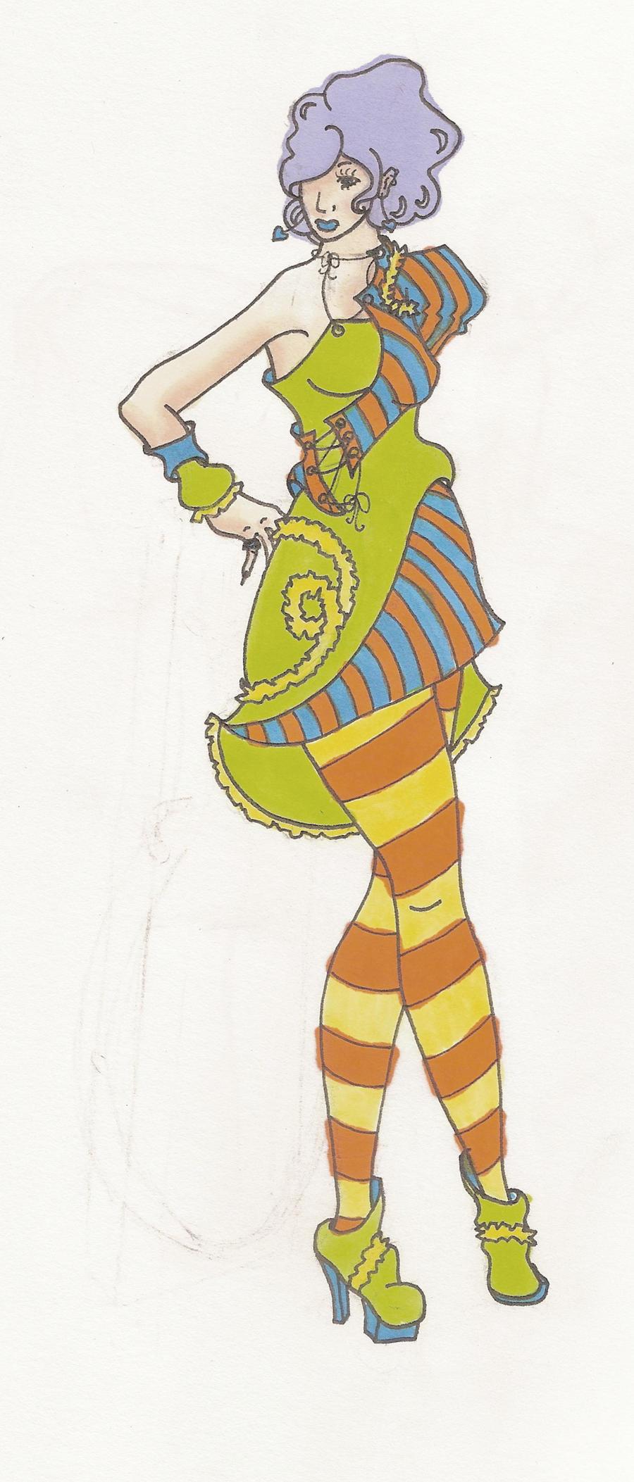 Retro Dress Design by phantomonex